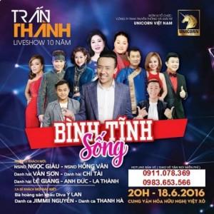 Bán vé Liveshow  Bình tĩnh sống - Trấn Thành ngày 18/6/2016 tại Hà Nội