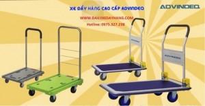 Xe đẩy hàng sàn nhựa, xe đẩy đài loan, xe đẩy 4 bánh giá rẻ, xe đẩy hàng advindeq hd-300