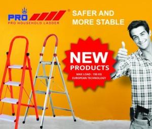 Thang nhôm Pro ra mắt sản phẩm thang nhôm tay vịn inox cao cấp