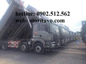 Xe ben 4 chân Shacman thùng dài 6m tải 17 tấn...
