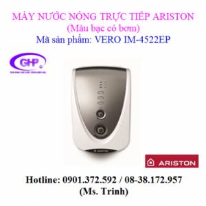 Máy nước nóng trực tiếp có bơm Ariston VERO IM-4522EP màu bạc