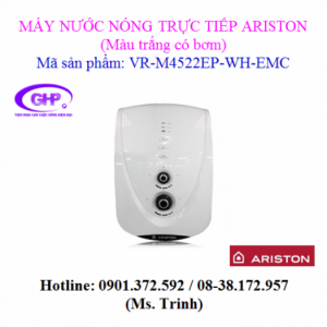 Máy nước nóng trực tiếp có bơm Ariston VR-M4522EP-WH-EMC màu trắng