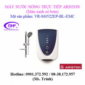 Máy nước nóng trực tiếp có bơm trợ lực Ariston VR-M4522EP-BL-EMC màu xanh