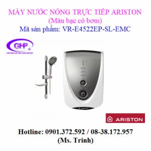 Máy nước nóng trực tiếp có bơm Ariston VR-E4522EP-SL-EMC màu bạc
