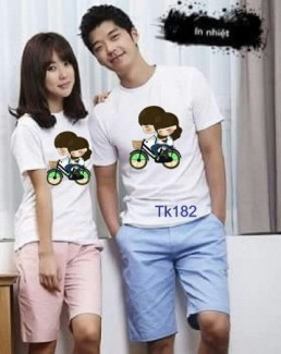 Set áo thun cặp (2 áo) nam nữ cực teen