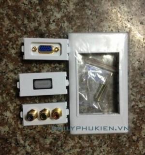 Mặt Wallplate 3 port HDMI,VGA,Audio chính hãng Panasonic