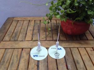 Wobbler để bàn Bà Chúa Nấm - VTC, wobbler quảng cáo, wobbler để bàn đẹp