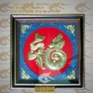 Tranh chữ Phúc Rồng – Ngũ Phúc Lâm Môn – Phúc Như Đông Hải