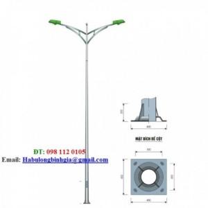 Cột đèn cao áp bát giác liền cần 12m 11m 8m 10m 6m 7m