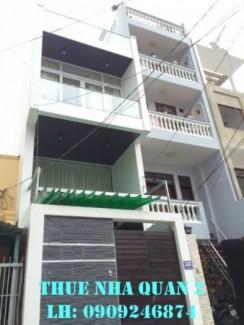 Cho thuê nhà phố Quận 2 Đường Nguyễn Cừ, trệt...