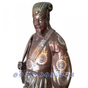 Tượng đồng Khổng Minh Gia Cát Lượng, tượng đồng phong thủy 25cm