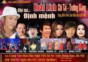 Bán vé liveshow Hoài Linh  Chỉ tại định mệnh ngày 9/7/16 tại Hà Nội