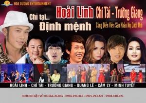 """Bán vé Liveshow Hoài Linh, Chí Tài, Trường Giang """"Chỉ tại định mệnh"""" tại Hà Nội"""