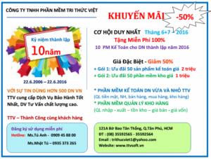 Tri Thức Việt – Gói khuyến mãi cực lớn Kỷ niệm 10 năm thành lập