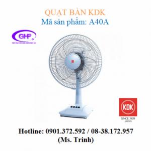 Quạt bàn KDK A40A (xanh bạc, xám bạc, trắng) giá rẻ