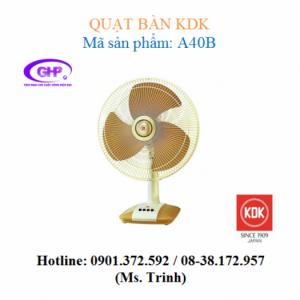 Quạt bàn KDK A40B (xanh, xám, vàng) chính hãng