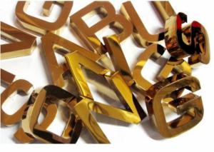 Chữ inox vàng giá rẻ