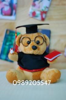 Gấu cử nhân tốt nghiệp đeo kính