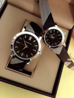 Đồng hồ đôi  dây da mặt đá hàng công ty chống nước chống xước