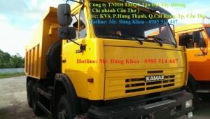 Bán xe Ben Kamaz,đời 2016,14 tấn,3 chân,2 cầu sau,màu vàng,nhập khẩu,mới