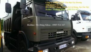 Bán xe Ben Kamaz,đời 2016,14 tấn,3 chân,2 cầu sau,màu xanh quân đội,nhập khẩu,mới
