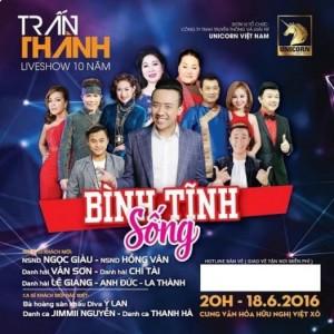 Cần nhượng lại vé Liveshow Trấn Thành- Bình Tĩnh Sống tại Hà Nội