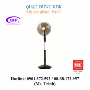 Quạt đứng KDK P40U (cánh xanh, xám, vàng) giá rẻ
