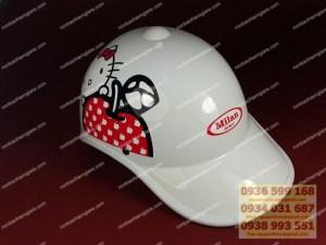 Cơ sở in nón bảo hiểm kinh nghiệm, nón bảo hiểm