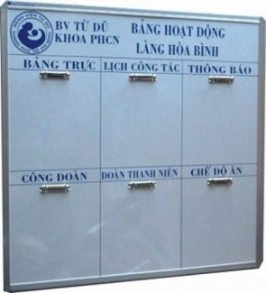 Bảng lịch công tác KT: 0.6 x 1m