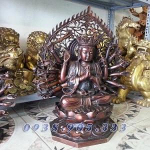 Phật bà nghìn mắt nghìn tay, thiên thủ thiên nhãn cao 25cm