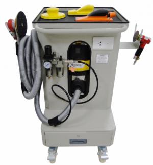 Máy chà matit khô – hút bụi di động bình chứa 30 Lít