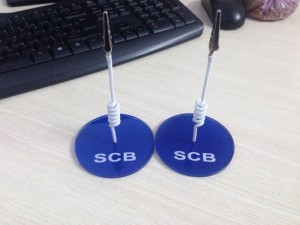Wobbler để bàn ngân hàng SCB, ngân hàng SCB, sản xuất wobbler ngân hàng SCB