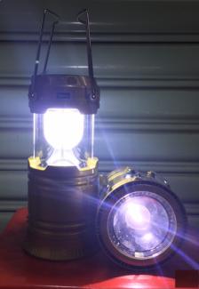 Đèn pin 2 kiểu (sạc năng lượng mặt trời)
