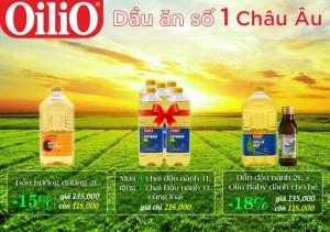 Combo dầu ăn OiliO - dầu ăn số 1 EU CTKM giá hấp dẫn