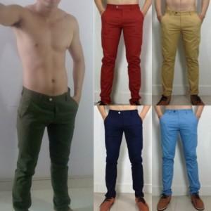 Quần kaki nam màu đỏ cam