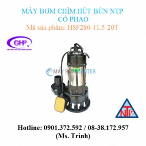 Máy bơm chìm hút bùn có phao NTP HSF280-11.5 20T (2HP)