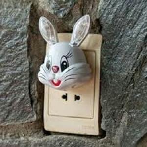 Đèn ngủ cảm ứng hình thỏ