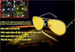 Kính nhìn xuyên đêm Night View Glass 2016  ■ Loại bỏ 100% tia UVA & UVB – Chặn ánh sáng chói lóa của ánh đèn pha xe ngược chiều giúp bạn có tầm nhìn tốt hơn khi lưu thông trên đường dù bạn đang sử dụng bất cứ phương tiện lưu thông nào như xe đạp, xe máy, ô tô…. ■ Phong cách thời trang mang kiểu dáng Rayban huyền thoại thích hợp cho cả Nam và Nữ. ■ Công nghệ phân cực 9 lớp phiên bản tăng cường của kính phân cực nhìn xuyên đêm Aoron 3043Y giúp ngăn tôi đa tia cực tím UV, chống chói, bảo vệ mắt toàn diện.