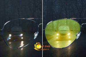 Kính nhìn xuyên đêm Night View Glass 2016  ■ Loại bỏ 100% tia UVA & UVB – Chặn ánh sáng chói lóa của ánh đèn pha xe ngược chiều giúp bạn có tầm nhìn tốt hơn khi lưu thông trên đường dù bạn đang sử dụng bất cứ phương tiện lưu thông nào như xe đạp, xe máy, ô tô…. ■ Phong cách thời trang mang kiểu dáng Rayban huyền thoại thích hợp cho cả Nam và Nữ.