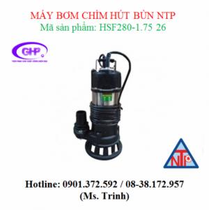 Máy bơm chìm hút bùn NTP HSF280-1.75 26 (1HP)