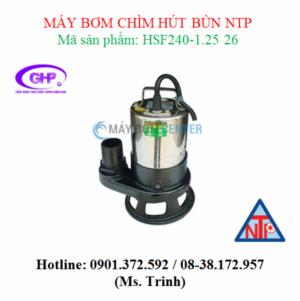 Máy bơm chìm hút bùn NTP HSF240-1.25 26 (1/3HP)