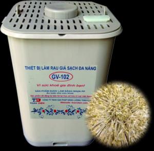 Máy trồng giá đỗ chuyên nghiệp GV-102. Cho bữa ăn thêm chất và dinh dưỡng một cách an toàn - MSN388014