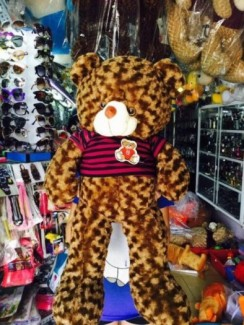 Gấu bông mịn, cao khoảng 1 mét, giá sỉ 270k