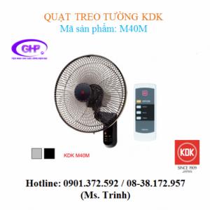 Quạt treo tường KDK M40M (xám, đen) chính hãng