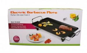 Mặt Vỉ nướng điện Electric Barbecue Plate được phủ lớp chống dính đã được kiểm định an toàn với sức khỏe người sử dụng, thức ăn sẽ được nướng một cách đẹp mắt.