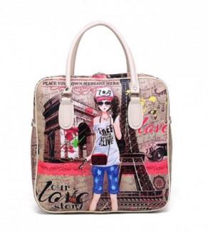 Túi xách du lịch cô gái paris mã: tx1302