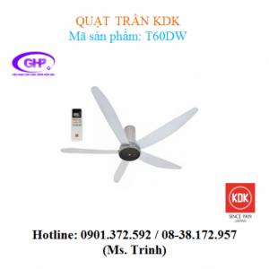 Quạt trần có remote KDK T60DW (xám)