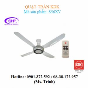 Quạt trần có remote KDK S56XV (xám)