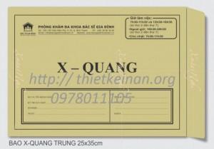 In ấn phong bì đựng phim X - Quang giá rẻ tại Hà Nội