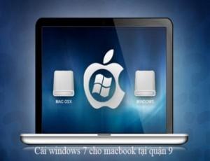 Dịch vụ cài win 7 cho macbook tại nhà quận 9